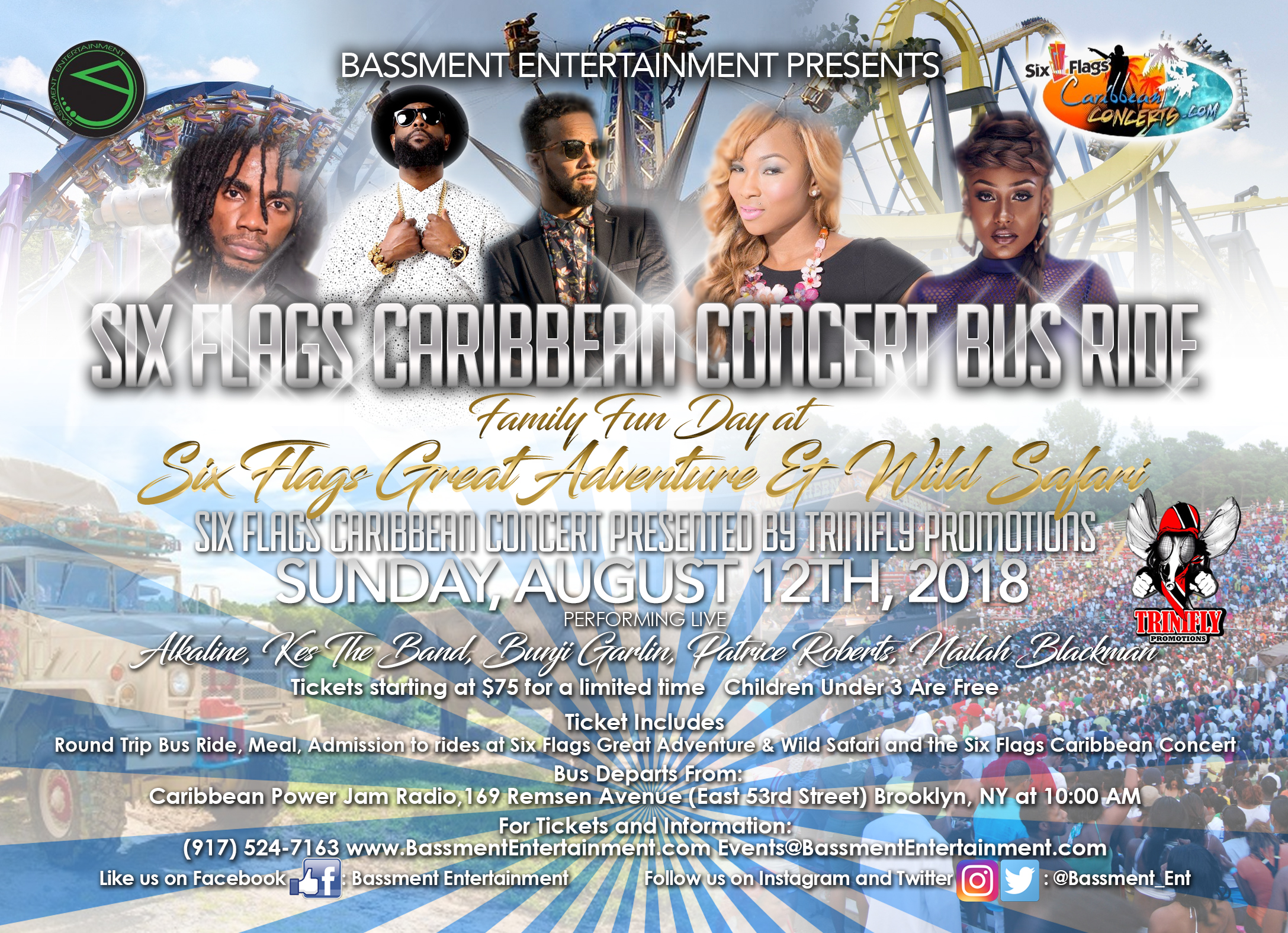 Six Flags Caribbean Concert Bus Ride